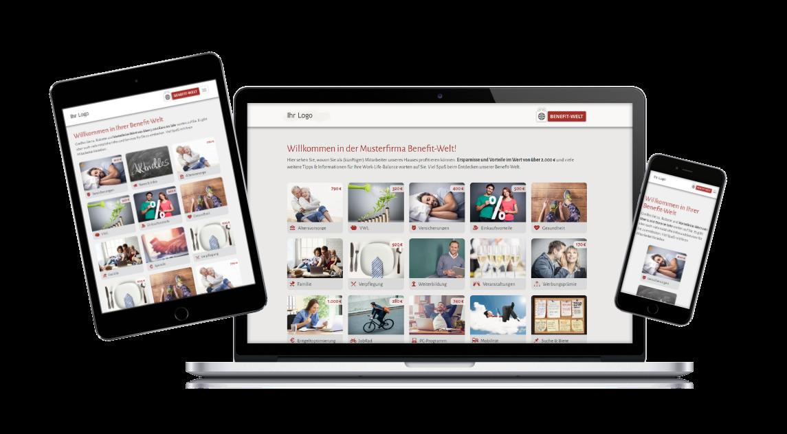 Benefit Portal in Unternehmens-CI